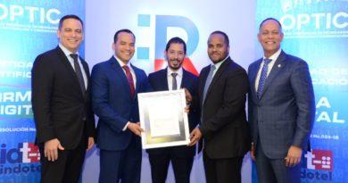 Indotel otorga a la OPTIC autorización para operar como Entidad de Certificación de Firma Digital