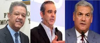 Encuesta otorga 46.6 % a Abinader, 25.6 a Gonzalo y Leonel 24.4